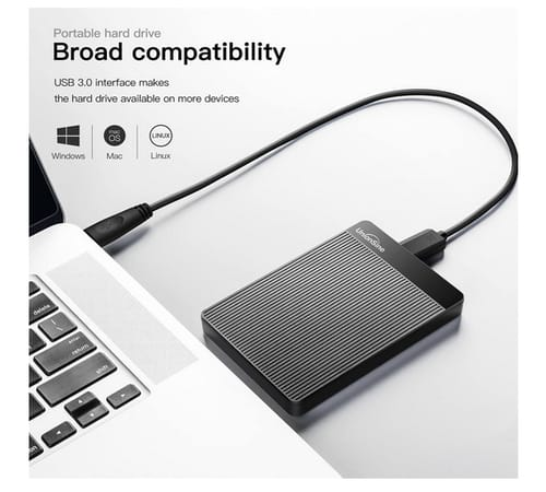 UnionSine 500GB Ultra Slim External Hard Drive