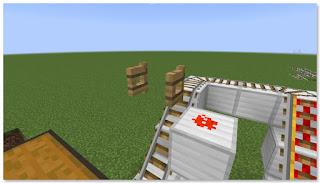 Minecraft トロッコ輸送 積み込み駅 複線 作り方⑤