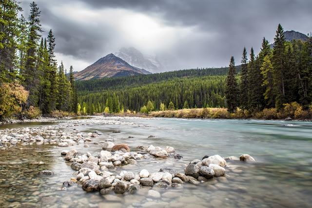 River at Winter at Banff National Park
