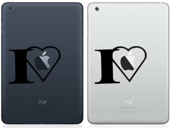I Love Apple iPad Mini Decals