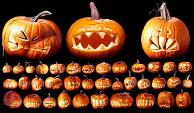 вырезание тыквы под заказ на Хэллоуин