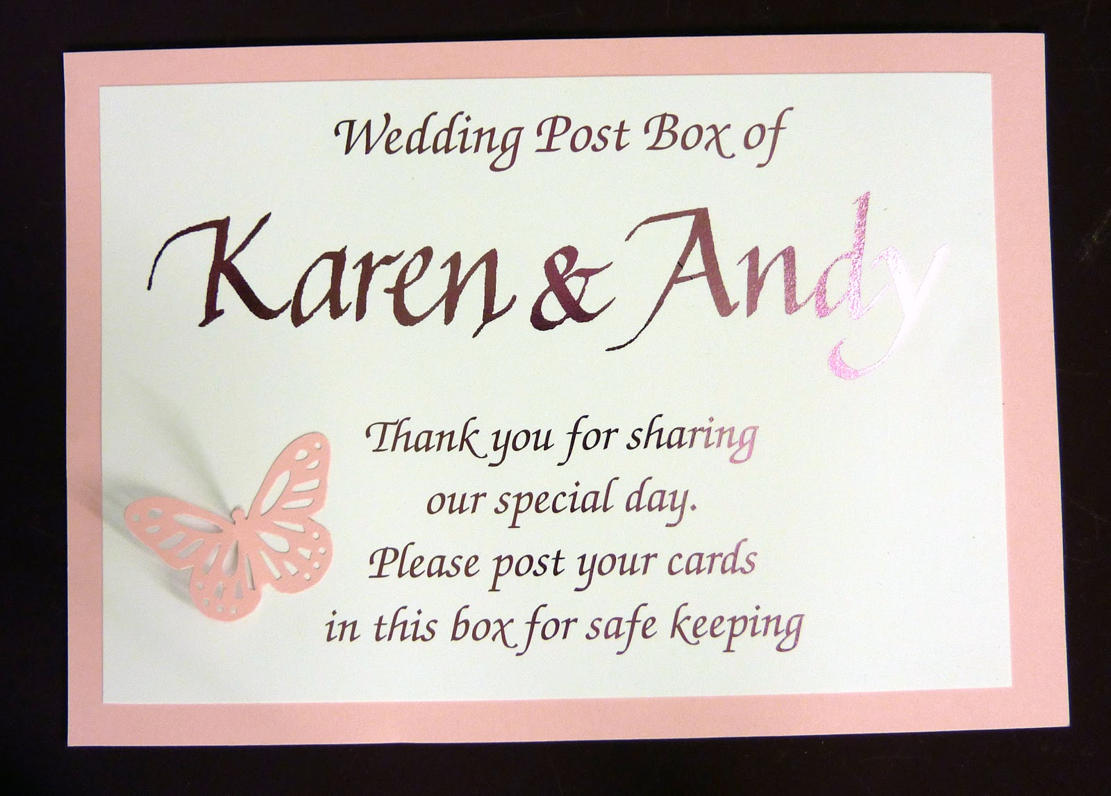 personalised signs for wishing wells wishing well wedding Darren and Fiona went for Hot Pink