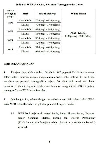 Update Penambahbaikan Waktu Bekerja Berperingkat Wbb Penjawat Awam 2018 Berita Malay 18 Berita Malay 18