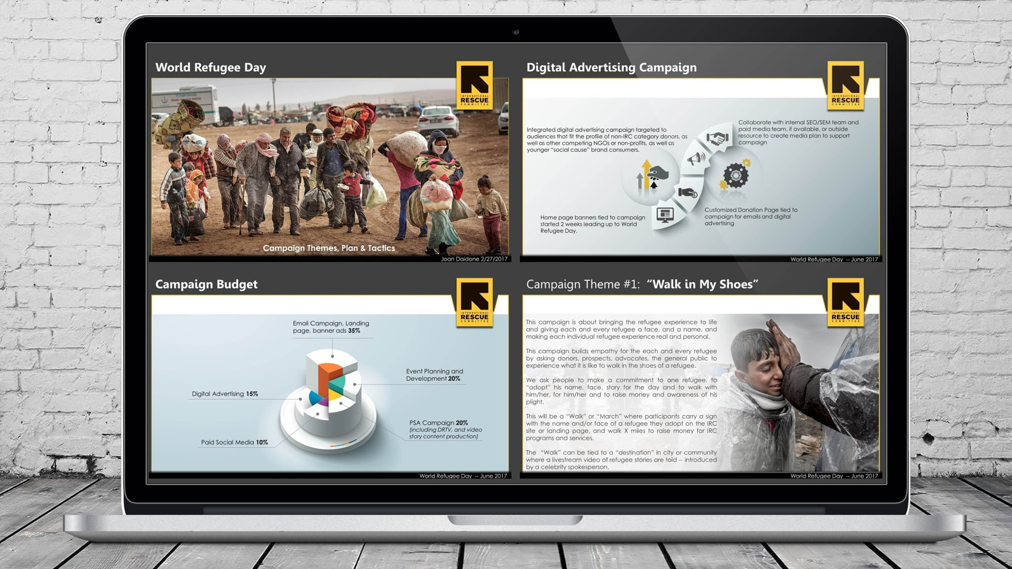 World Refugee Day PowerPoint Marketing Presentation