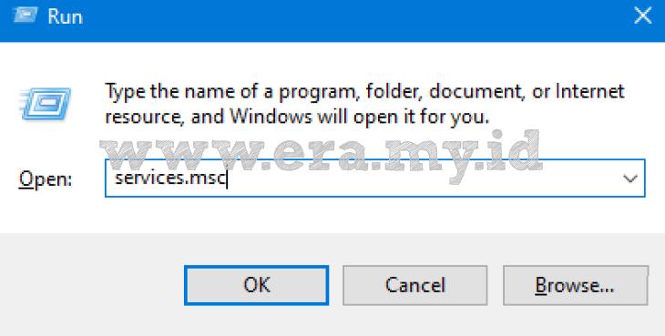 Contoh Run di Windows