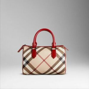 Burberry Bowling Bags Outlet Stamp Canvas
