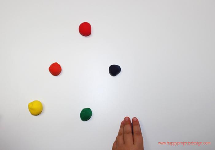 Teoría del color con jumping clay