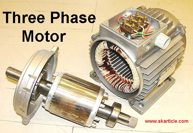 Three Phase motor Working Principle in Hindi