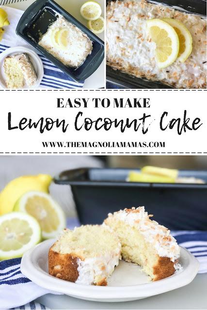 Lemon Coconut Cake recipe. Easy to make lemon dessert or even breakfast! Such a yummy summer dessert!