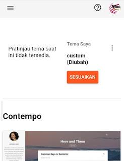 Salut Sama Tampilan Dasbor blogger Baru