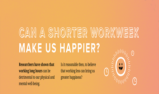 Can a Shorter Workweek Make People Happier? #infographic