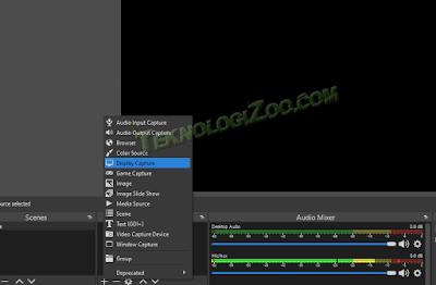 display capture obs black screen
