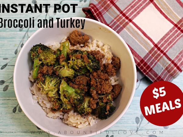 Instant Pot Broccoli and Turkey