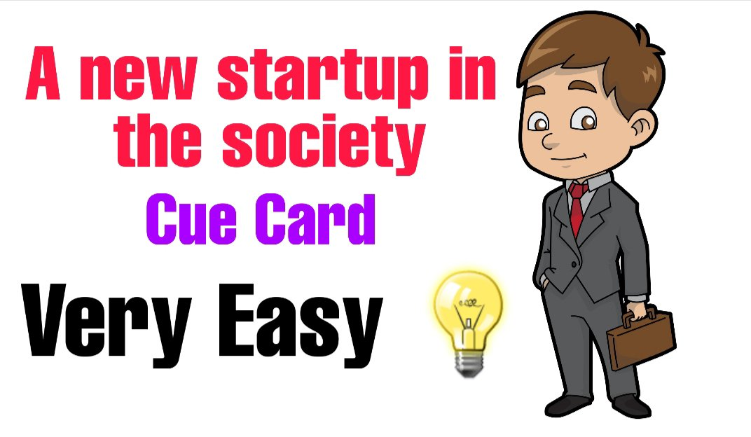 Talk about a new startup in the society
