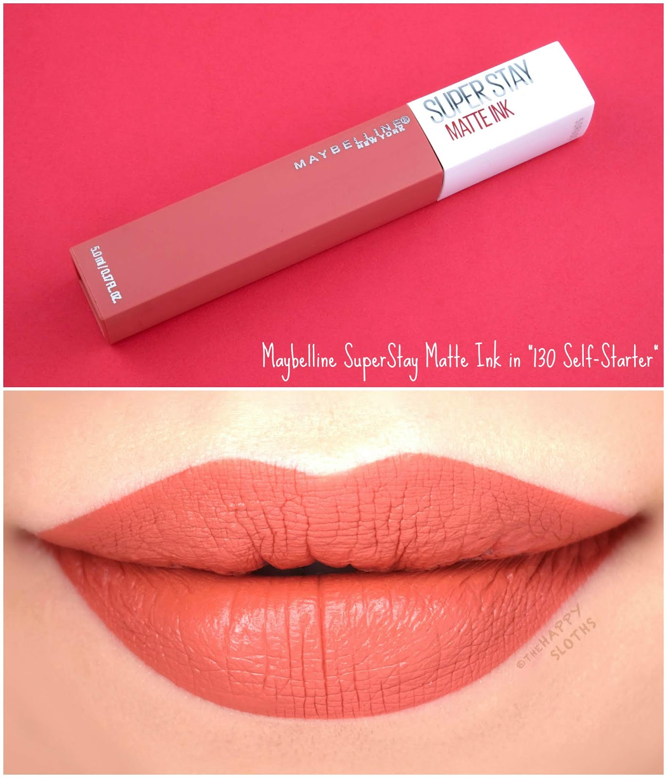 "Maybelline | SuperStay Matte Ink City Edition in ""130 Self-Starter"": Review and Swatches"