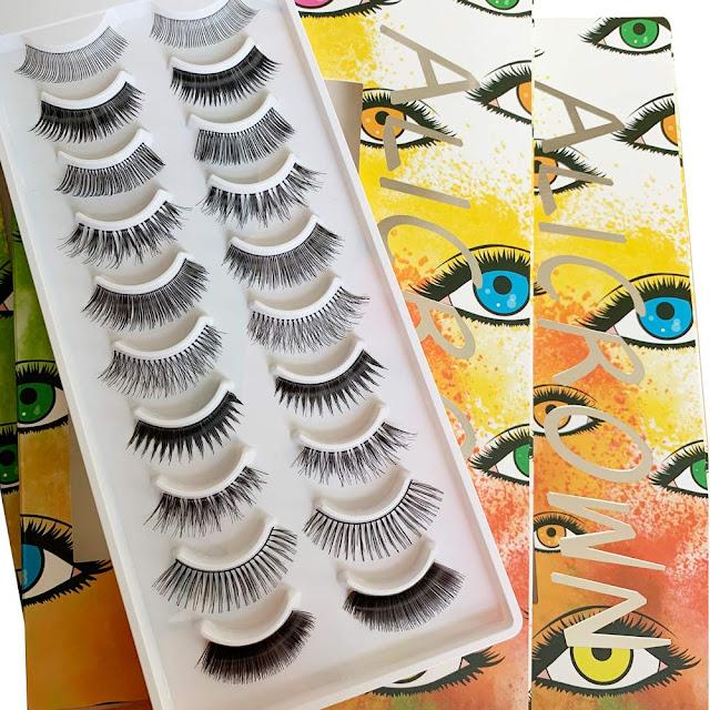 ALICROWN Glamour Variety Pack of False Eyelashes 10 Pairs of Glamorous Fake Lashes