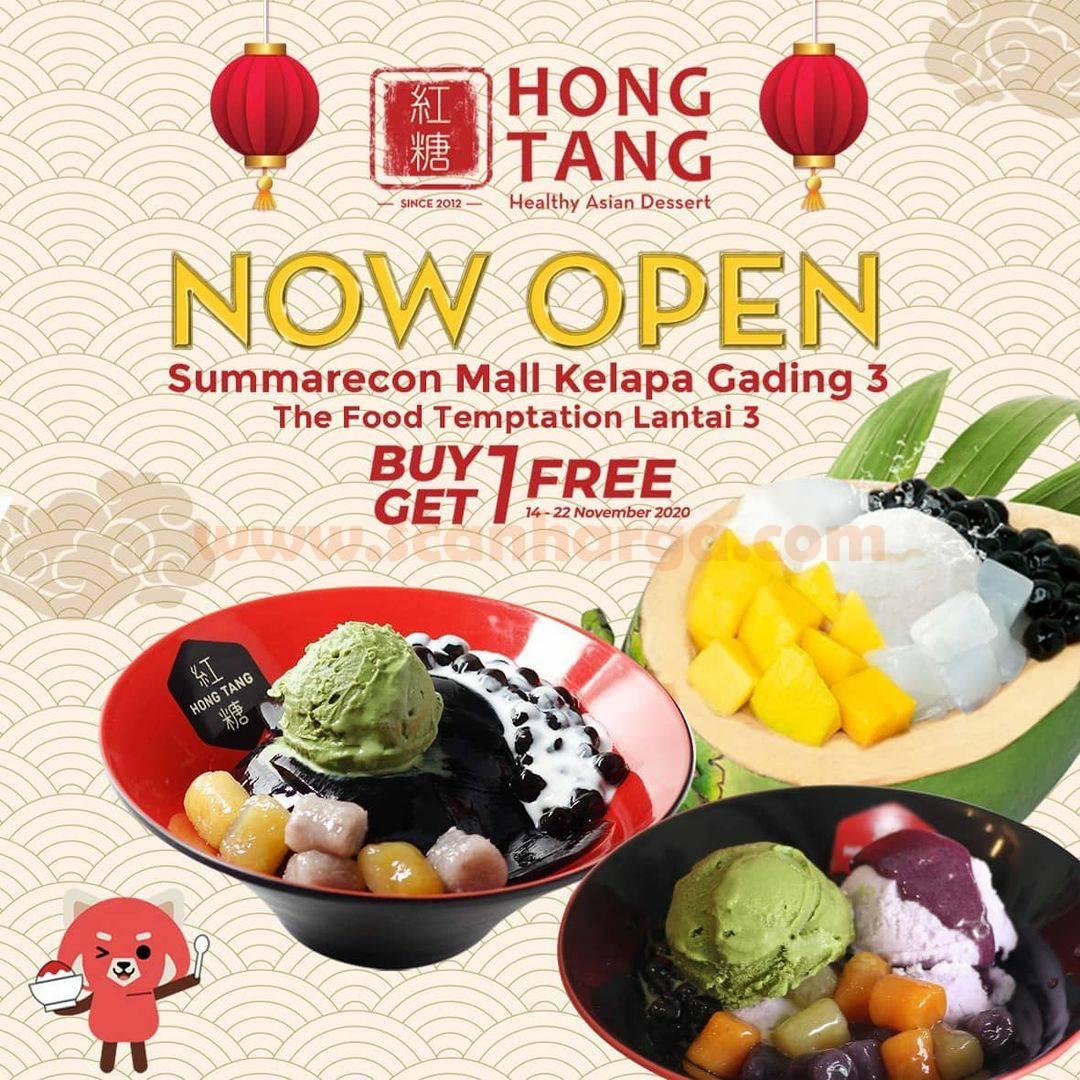 Hong Tang Summarecon Mall Kelapa Gading 3 Opening Promo Buy 1 Get 1 Free