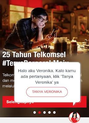 tampilan Tanya Veronika Asisten virtual di web