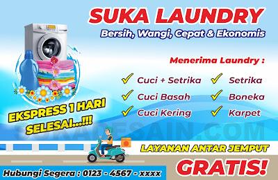 Spanduk Suka Laundry CDR