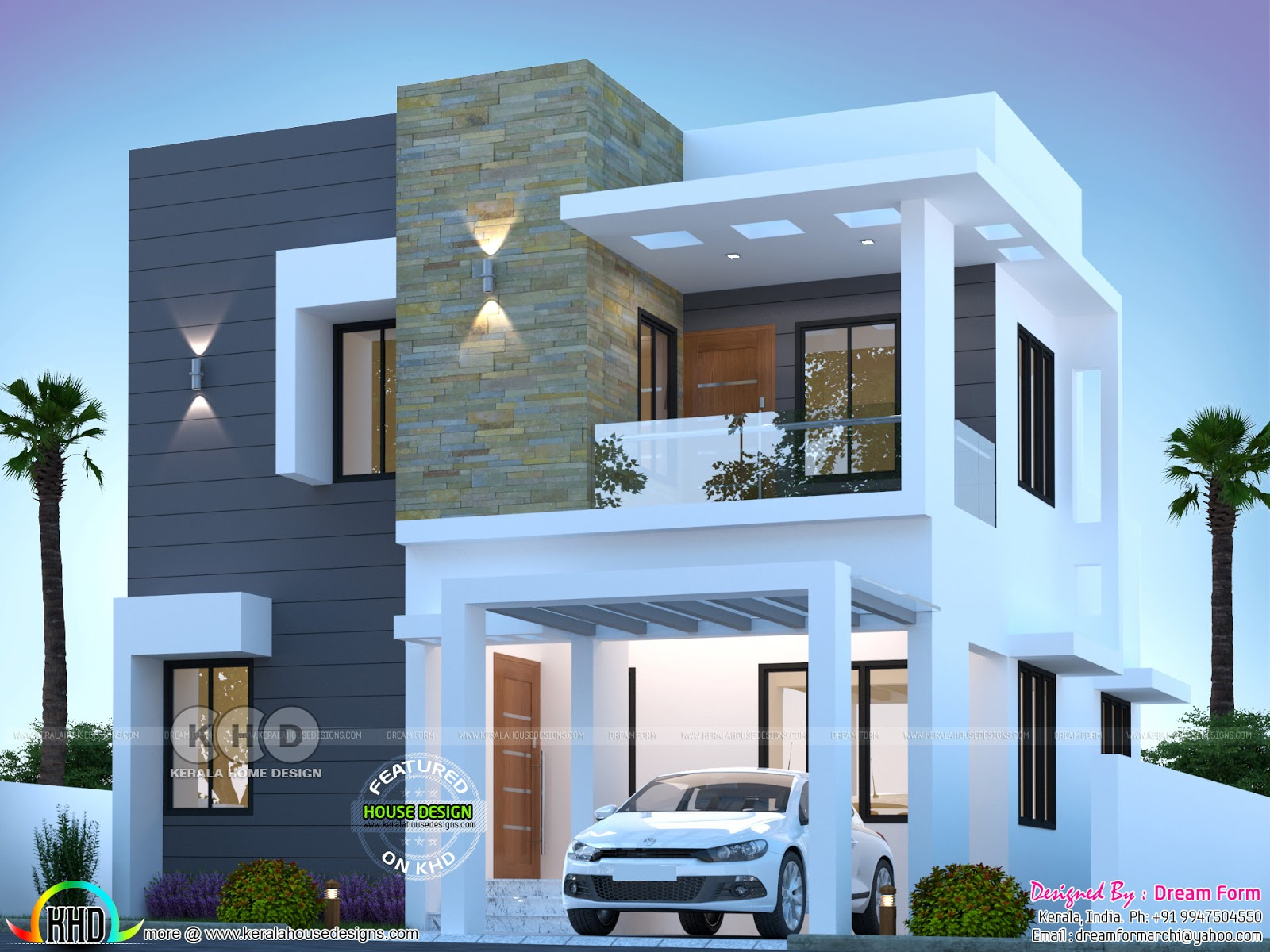 3 Bhk Cute Modern House 1550 Sq Ft Kerala Home Design And Floor Plans 8000 Houses