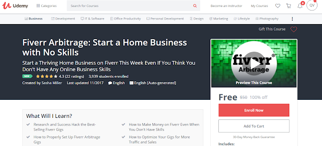 Fiverr Arbitrage: Start a Home Business with No Skills