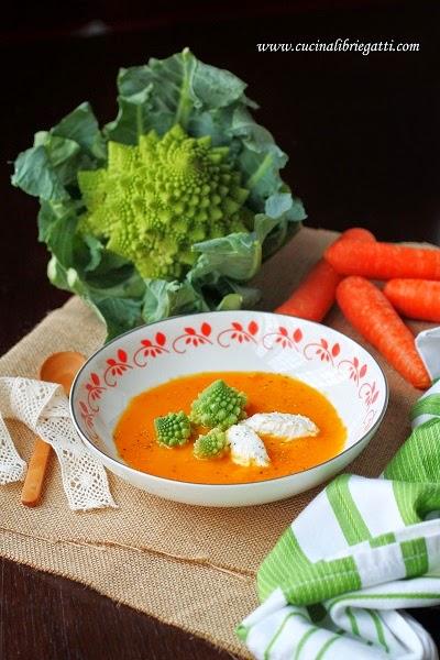 crema carote zenzero broccoli ricetta