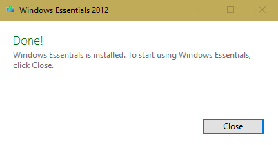Installation of windows live essential 3