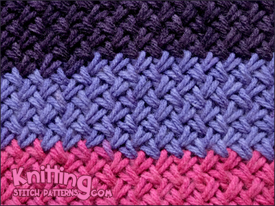 Woven Basket Stitch | Knitting Stitch Patterns
