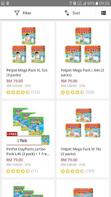 PetPet Mega Pack Lazada Malaysia Big Baby Fair Discount Promo