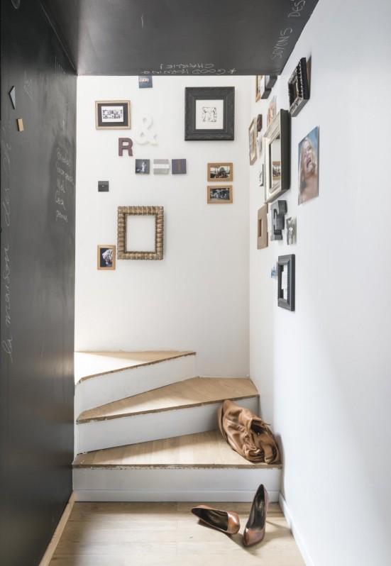 decoración vintage escaleras