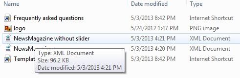 pilih file xml dari hasil ekstraksi di komputer