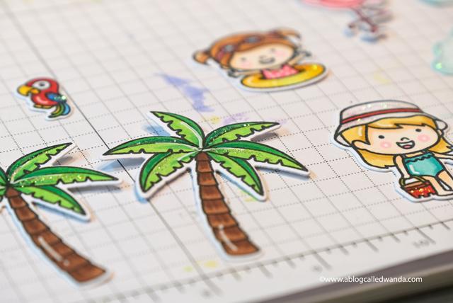 Sunny Studio Stamps: Fabulous Flamingos Coastal Cuties Sending Sunshine Fluffy Clouds Summer Themed Pop Up Card by Wanda Guess