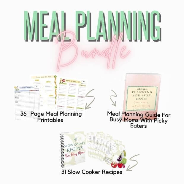 Meal planning printable bundle for beginners