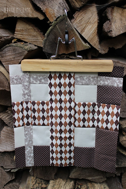 Der Rabe im Schlamm, Quiltblock, Mod Tartan, Patchwork, Quilt, Fall Block Party, fabricdotcomblockparty