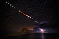Total Lunar Eclipse and Lightning Storm