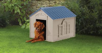 Outdoor Dog House with Door - Water Resistant