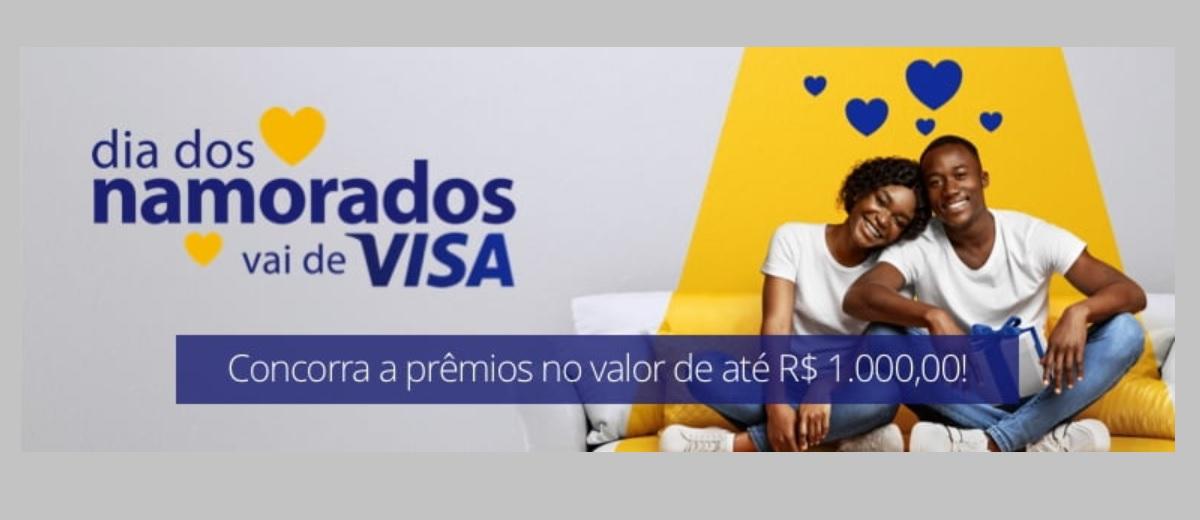 Promoção VISA dia dos Namorados 2021 Vai de Visa Prêmios