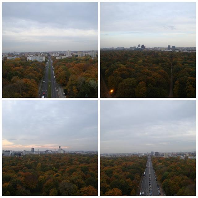 Berlim e o Tiergarten vistos do alto da Siegessäule