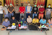 Polisi berhasil Amankan 7 Terduga Pelaku tindak pidana Narkotika jenis Sabu
