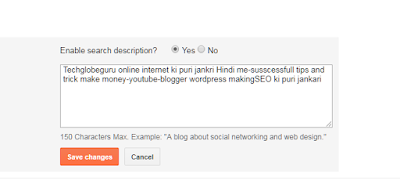 Search Description Blogger Ki Har Post Me Enable Kaise Kare