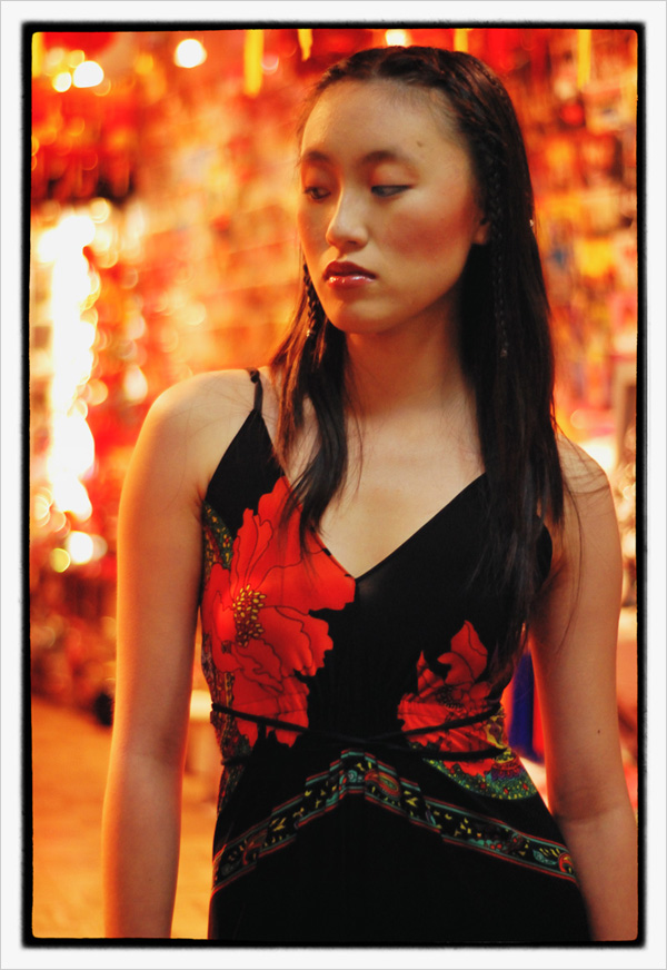 Fashion portrait mid shot, Sunny - chinese gift shop - Chinatown 2007 New Edition, Photographed by Kent Johnson