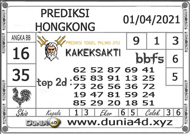 Prediksi Togel HONGKONG DUNIA4D 01 APRIL 2021