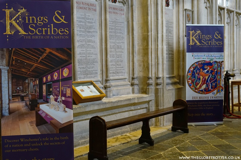 Kings and Scribes Exhibition at Winchester Cathedral