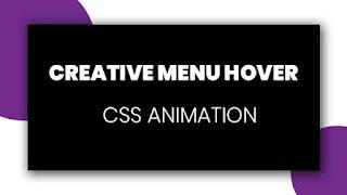 Simple Creative Menu Hover Effect