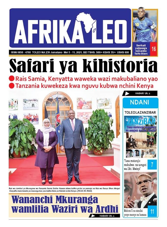 Habari kubwa za Magazeti ya Tanzania leo Mei 5, 2021