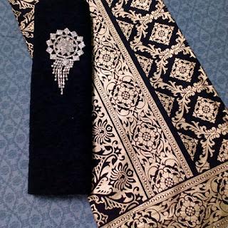 Kain Batik dan Embos 934 Prada Hitam