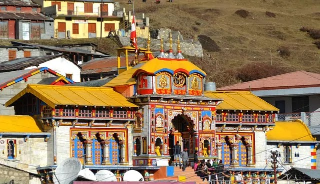 Badrinath temple front view