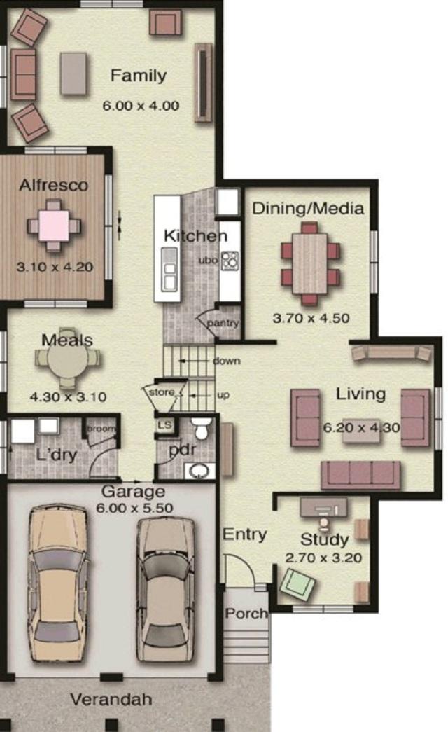 Plano de casa grande de dos pisos planos de casas gratis for Planos para casas