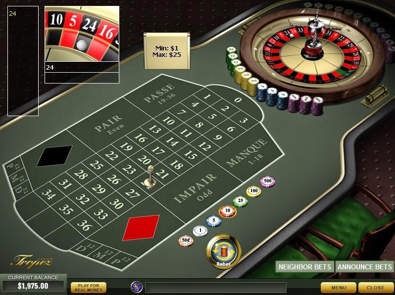 Casino Tropez Roulette Screen