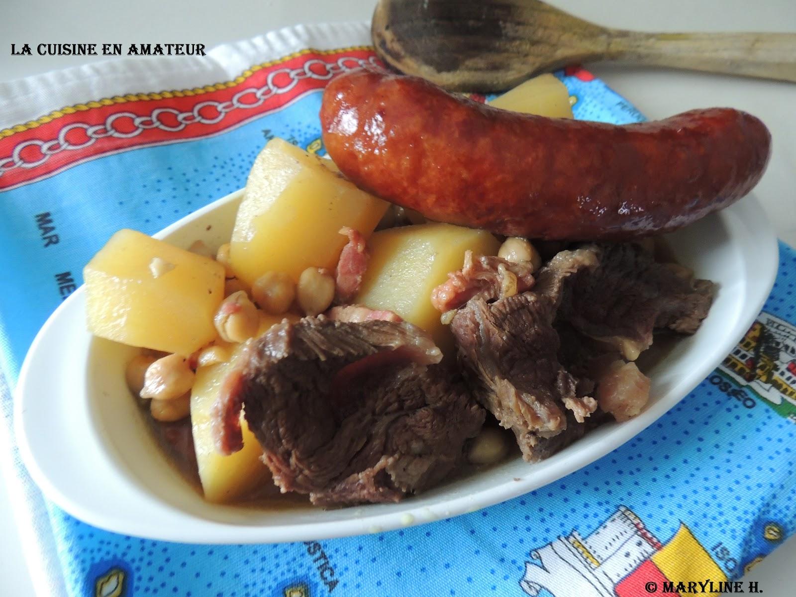 la cuisine en de maryline pot au feu espagnol puchero